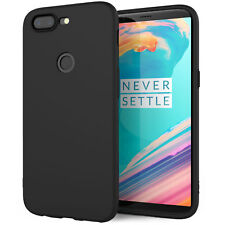Silicone Case For The New OnePlus 5T Solid Matte Slim Flexi TPU Gel Phone Cover