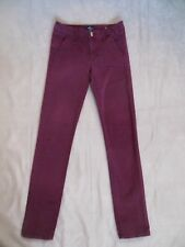 WOMEN'S AMERICAN EAGLE OUTFITTERS BURGUNDY STRETCH SKINNY JEANS SIZE 2