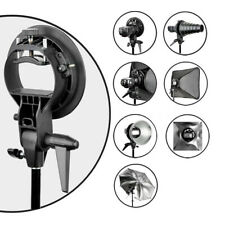 S-Type Speedlite Bracket Softbox Umbrella Bowens Mount Holder Flash Softbox Tool
