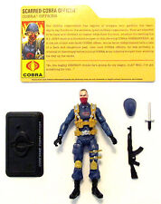 G.I. Joe_25TH/30TH POC/ROC 2008 V6 Scarred Cobra Officer_100% COMPLETE_C9.5 NM!