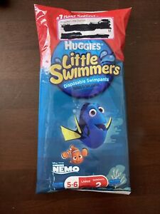 Huggies Little Swimmers Disposable Swimpants Size 5-6 Large 32+ lbs