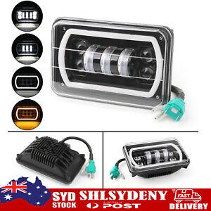 """4""""X6"""" LED Light Bulbs DRL Crystal Clear Sealed Beam Headlamp Headlight"""