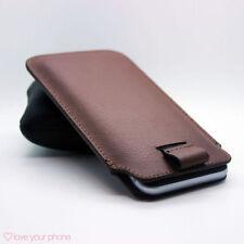 Fundas y carcasas Universal color principal marrón de piel para teléfonos móviles y PDAs