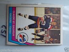 HOCKEY CARD O PEE CHEE 1977-78 WHA CLAUDE ST SAUVEUR INIANAPOLIS NEAR MINT CS3