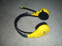 Yellow Optimus Sports 12-916 12-916A Stereo Mate AM/FM Radio Headset - 1 Speaker