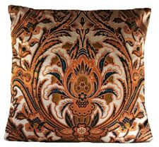 "Matthew Williamson Cushion Cover Velvet Printed Fabric Rusty Red Black 16"""