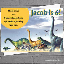 Personalised Dinosaur Childrens Kids Birthday Party Invitations x 12 +envs H0195