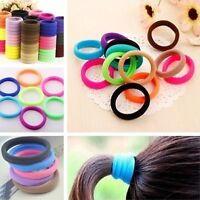 50 Pcs Elastic Rope Ring Hairband Women Girls Hair Band Tie Ponytail Holder UK
