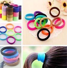 50 Pcs Elastic Rope Ring Hairband Women Girls Hair Band Tie Ponytail Holder UK