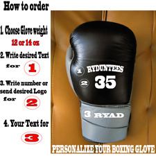 Personalized custom MMABoxing Gloves w/ Your Text or Logo.USA seller- RYDUNTEES
