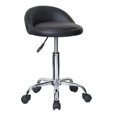 ROLLING ADJUSTABLE SWIVEL STOOL -CHAIR W/WHEELS -MASSAGE/TATTOO- JUNO-SET OF 4