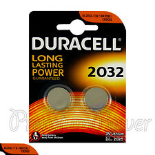 2 x Duracell CR2032 batteries Lithium Coin Cell 3V CR BR2032 DL2032 3V Pack of 2