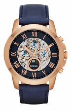 Fossil Casual Analog Mens Blue Watch Me1121 ME3029