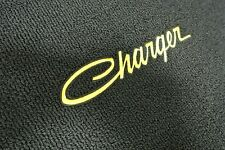 1968-78 Dodge Charger 4 Piece Floor Mats Set YELLOW Embroidery