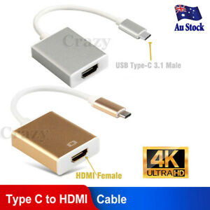 """USB-C Type C USB3.1 Male to HDMI Female HDTV 1080p Adapter Cable for MacBook 12"""""""