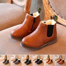 enfants filles garçons plat décontracté cheville zip stretch Automne chaussures