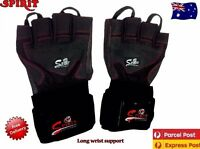 Leather Gym Weight Lifting Gloves BodyBuilding Training Crosfit Exercise Workout