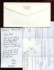 1976 Pete Roselle Signed Note With Document + Original Mailing Envelope