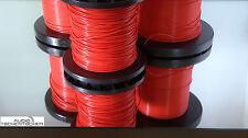 1 m PTFE Audio-Tschentscher Teflonlitze versilbert AWG 16/19E 1,34 rot