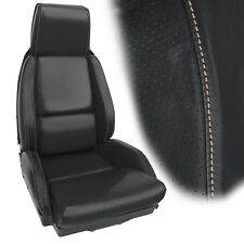 1984-1988 Corvette Seat Covers STANDARD Graphite Leather with Tan Stitching