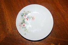 WONDERFUL VINTAGE J L MENAU HAND PAINTED FLOWERS SIGNED SMALL CABINET PLATE # 1