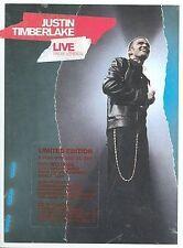 JUSTIN TIMBERLAKE ~ LIVE FROM LONDON  (DVD, 2003) JT  CONCERT VIDEO & BONUS CD