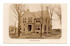LEICESTER, MA ~ PUBLIC LIBRARY, EDDY MAKE REAL PHOTO PC ~ c. 1910-20