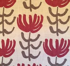 DESIGNERS GUILD William Yeoward Pierette Floral Red Brown Remnant New