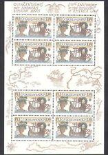 Checoslovaquia 1992 Columbus/barcos/barcos/Navegación/exploradores/personas 8 V Sht n38007