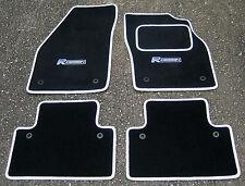 Fußmatten in Schwarz/Weißer Rand passend füR Volvo S40/V50 04-12 + R Design