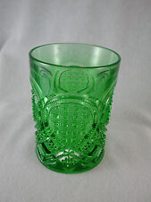 "Heisey FANCY LOOP #1205 Emerald 4"" TUMBLER Green Glass"