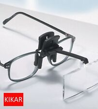 KIKAR Clip on Flip up Glasses Hat Folding Magnifier Reading Magnifying Hand Free