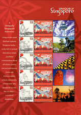 "A380-29F1 Sheetlet 5 Perso stamps SINGAPORE ""Airbus A380 - Mission 01"" 2006"