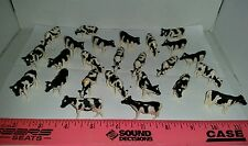 1/64 ERTL FARM TOY QTY OF 25 ASSORTED HOLSTEIN DAIRY COWS CATTLE 4 YOUR DISPLAY