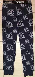 Boys PJ Set Marvel Avengers 2 Pc Sz 8 Sleep Set Pajama Cotton Black Bottom