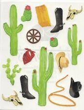 Creative Memories BLOCK STICKER - Day At The Ranch Stickers - Cactus Cowboy
