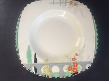 Burleigh Ware Riviera 1932 Art Deco Handpainted Pottery Med Dessert Cereal Bowl