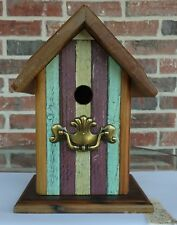 Heartwood Antique Pine & Knotty Pine Peak Roof Bluebird Collectible Birdhouse