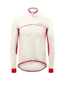 Aries women's Rain Jacket - in White/Red - Made it Italy by Santini Size XS