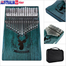 17 Key African Mahogany Wooden Kalimba Thumb Piano Finger Percussion Music Mbira