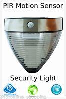 Large Solar Power LED PIR Motion Sensor Outdoor Security Wall Lights Garden NEW