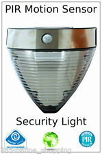 SOLAR POWERED LED SECURITY WALL LIGHT SPOTLIGHT PIR SENSOR OUTDOOR GARDEN LAMP