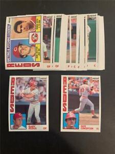 1984 Topps Nestle 792 Cincinnati Reds Team Set 27 Cards