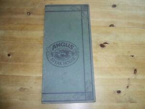 Angus Steak House Rind England Original Rar Selten Vintage Pfund  Speisekarte