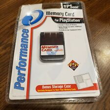 Memory Card Light Gray by Performance Playstation PSOne Console System unopened