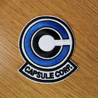 Dragon Ball Z Blue Capsule Corp. Patch 3 1/2 inches tall