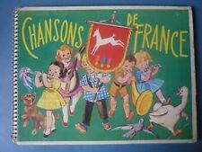Ln8 - Album Figurine  Poulain CHANSONS DE FRANCE - Non Completo