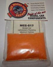 Model Car Garage 1:25/1:24 Upholstery Flocking Medium Yellow #MCG-817 NIP