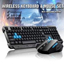 2.4G Wireless Gaming keyboard and Mice Set Bundle Computer PC Multimedia Gamer B