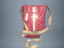 Coach PVC Chelsea Stripe Pink Magenta Crossbody/Swingpack/Shoulder 42385 Bag